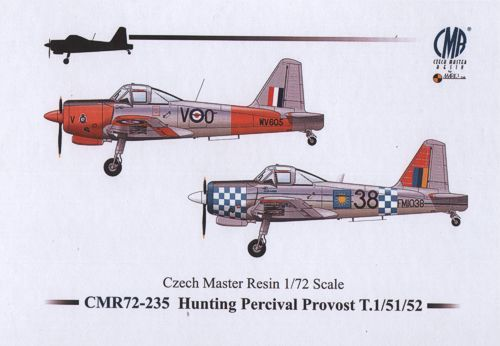 Czech Master Resin 1/72 Hunting Percival Provost T.1/T.51/T.52 # 235