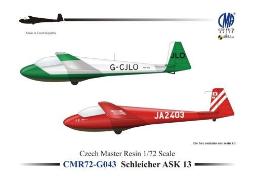 Czech Master Resin 1/72 Schleicher ASK 13 # 72G043