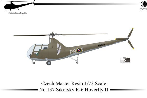Czech Master Resin 1/72 Sikorsky R-6 Hoverfly II # 137