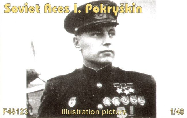 Czech Mater 1/48 Soviet Aces I. Pokryskin (1 fig. for P-39) # F4