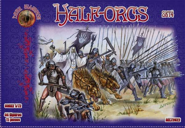 Dark Alliance 1/72 Half-Orcs Set 4 # PAL72022