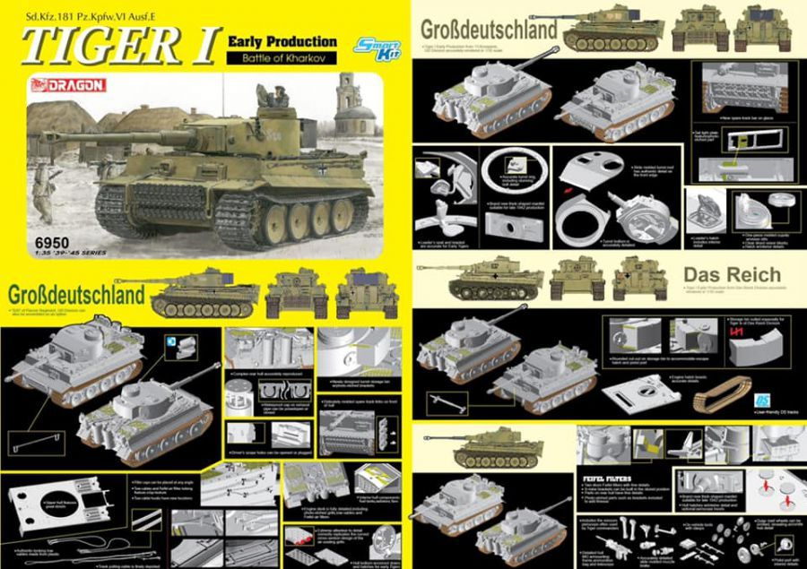 Dragon 1/35 Tiger I Early Production Battle of Kharkov # 6950