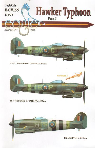 Eagle Cal 1/24 Hawker Typhoon I.B # 24159