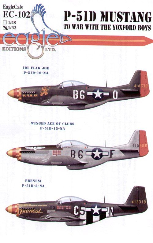 Eagle Cal 1/32 North American P-51D Mustang 357th FG Pt 2 # 3210