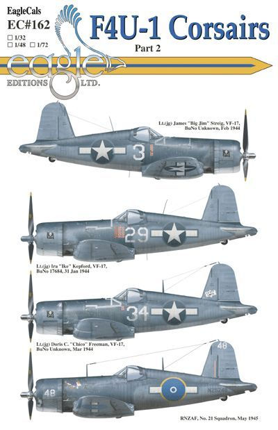 Eagle Cal 1/32 Vought F4U-1 Corsairs # 32162