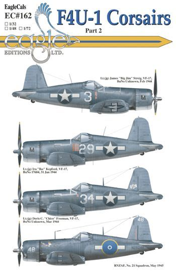 Eagle Cal 1/48 Vought F4U-1 Corsairs Part 2 # 48162