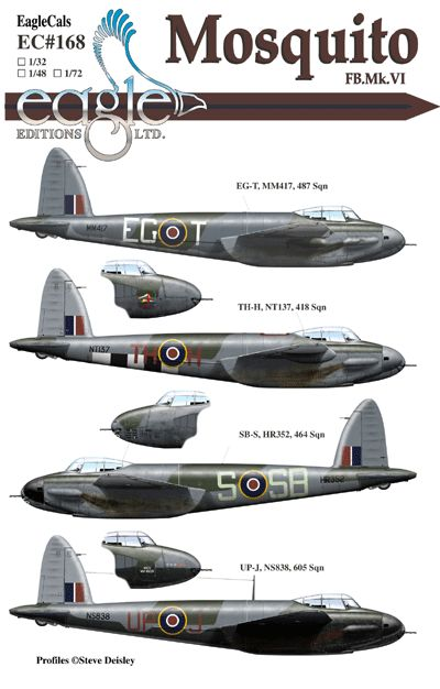 Eagle Cal 1/48 de Havilland Mosquito FB Mk.VI # 48168