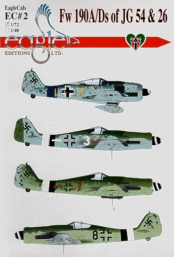 Eagle Cal 1/72 Focke-Wulf Fw-190A/Fw-190D-9 of JG 54 and JG 26 # 72002