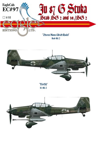 Eagle Cal 1/72 Junkers Ju-87G-2 'Stuka's Part 1 # 72097