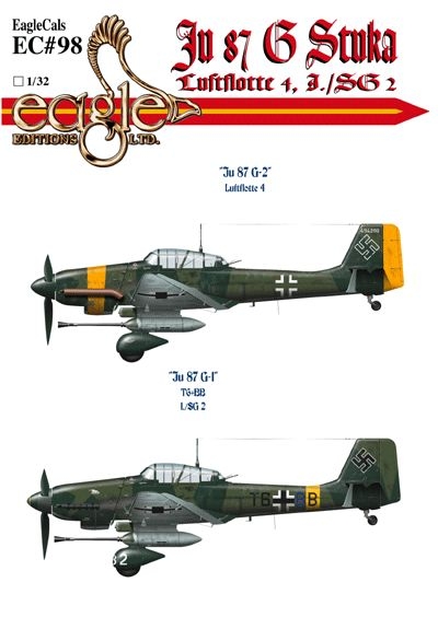 Eagle Cal 1/72 Junkers Ju-87G-2 'Stuka's Part 2 # 72098