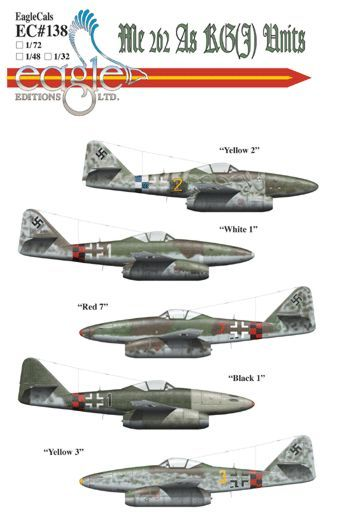 Eagle Cal 1/72 Messerschmitt Me 262 As of KG(J) Units # 72138