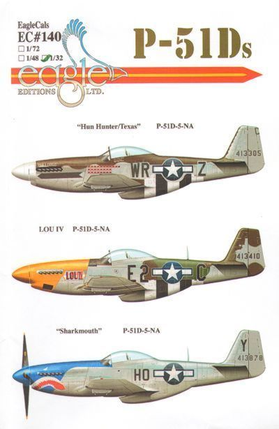 Eagle Cal 1/72 P-51D Mustang Part 2 # 72140