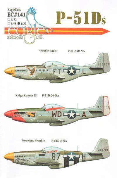 Eagle Cal 1/72 P-51D Mustang Part 3 # 72141