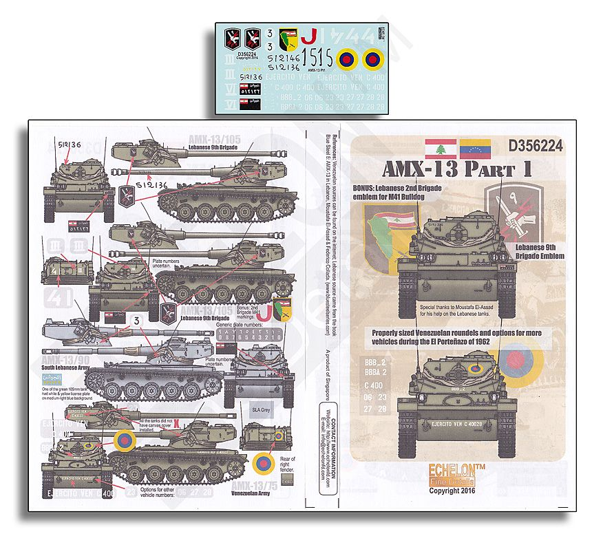 Echelon FD 1/35 AMX-13 Part 1 # D356224