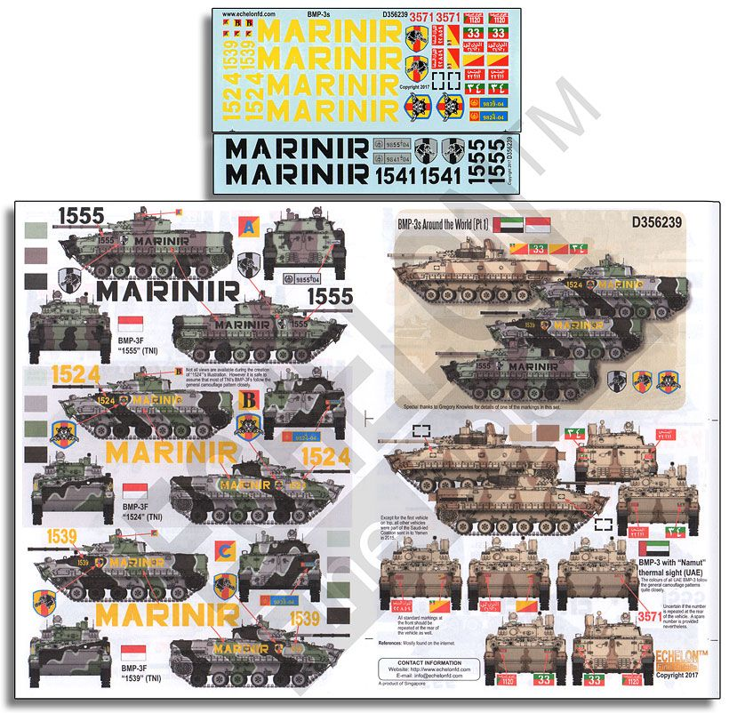 Echelon FD 1/35 BMP-3s Around the World (Part 1) # D356239