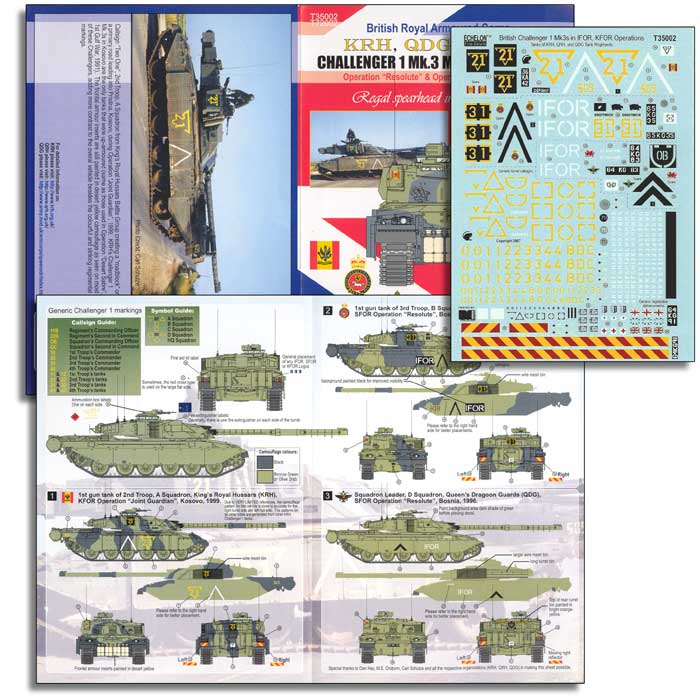 Echelon FD 1/35 British Challenger 1 Mk.3s in IFOR and KFOR Operations # T35002