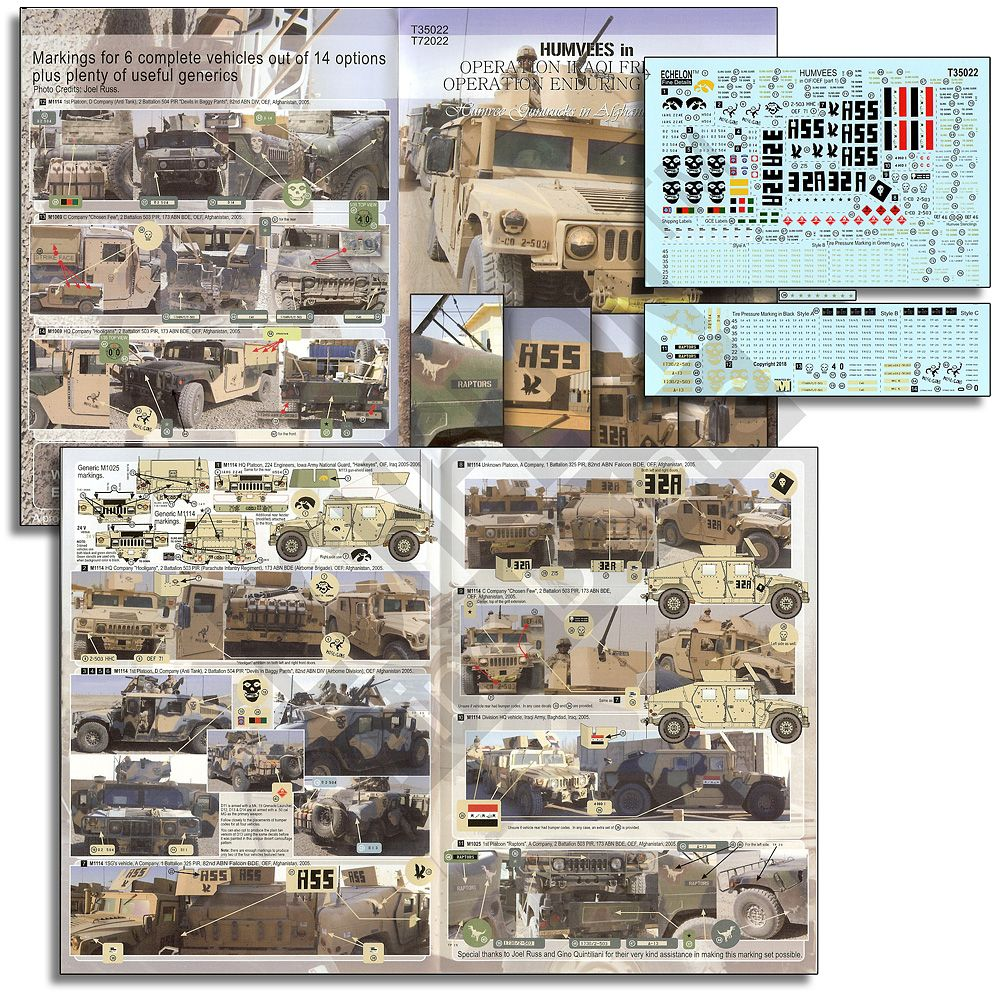 Echelon FD 1/35 Humvees in OIF & OEF # T35022