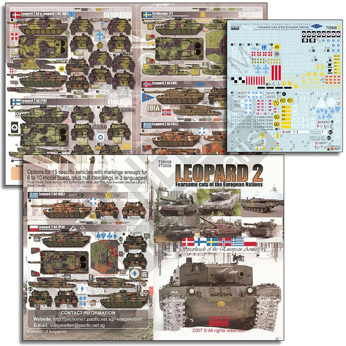 Echelon FD 1/35 Leopard MBT 2 Fearsome Cats Of The European Union # T35008