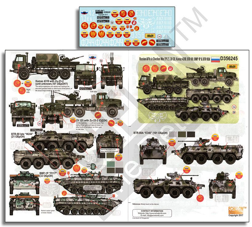Echelon FD 1/35 Russian AFVs in Chechen War (Pt 2) # D356245