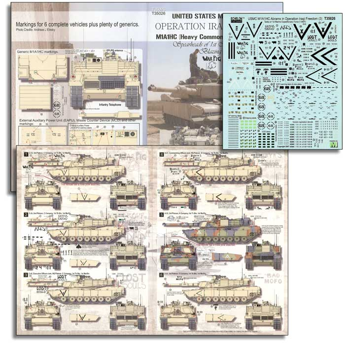 "Echelon FD 1/35 USMC M1A1HA Abrams in ""Operation Iraqi Freedom"" (Part 3) # T35026"