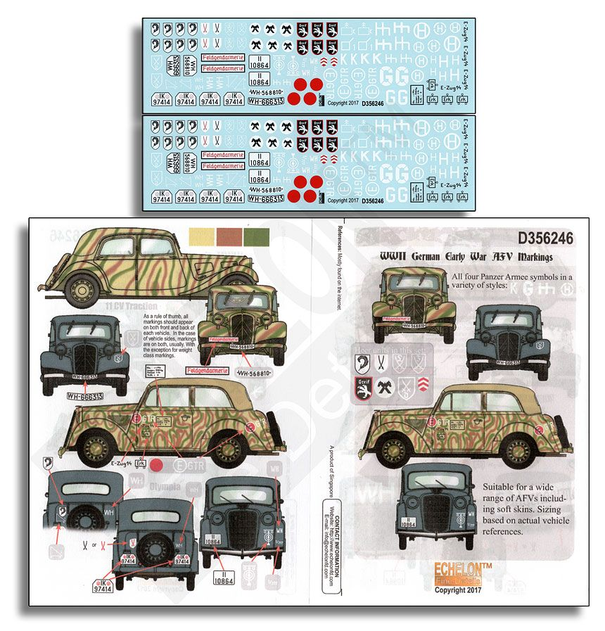 Echelon FD 1/35 WWII German Early War AFV Markings # D356246