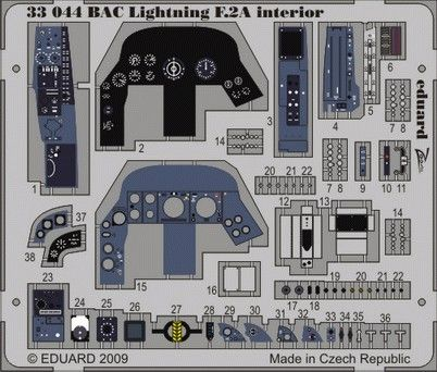 Eduard 1/32 BAC Lightning F.2A Interior # 33044