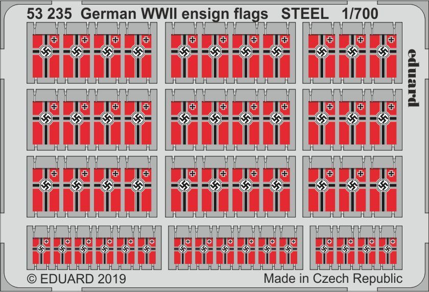 Eduard 1/700 German WWII Ensign Flags STEEL # 53235
