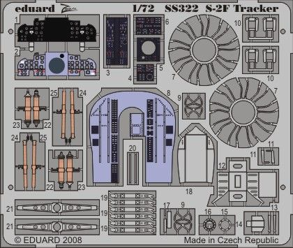 Eduard 1/72 S-2F Tracker PRE-PAINTED IN COLOUR! # SS322