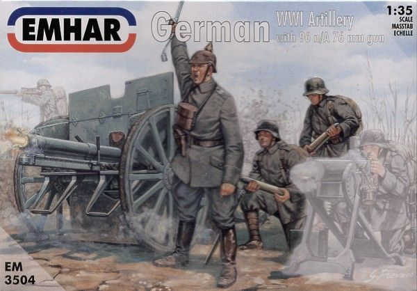 Emhar 1/35 WWI German Artillery with 96 n/A 76mm Gun # 3504