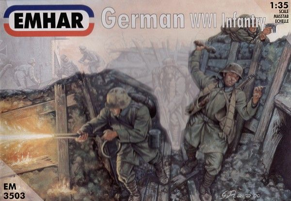 Emhar 1/35 WWI German Infantry # 3503
