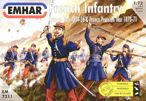 Emhar 1/72 French Infantry Crimean and Franco-Prussian Wars # 72