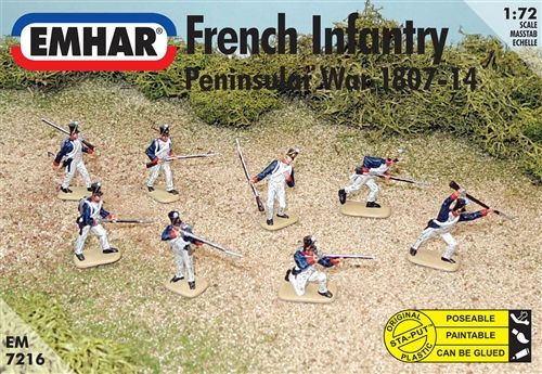 Emhar 1/72 French Infantry Peninsular War 1807-14 # 7216