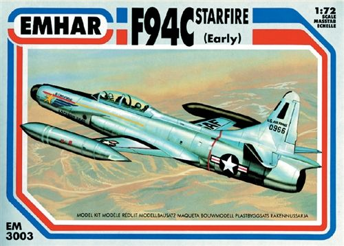 Emhar 1/72 Lockheed F-94C Starfire early version # 3003
