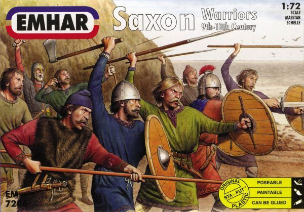 Emhar 1/72 Saxon Warriors 9th-10th Century # 7206