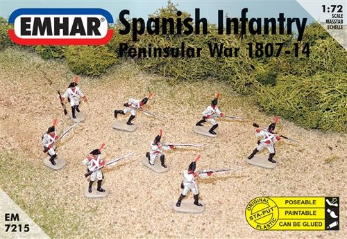 Emhar 1/72 Spanish Infantry Peninsular War 1807-14 # 7215
