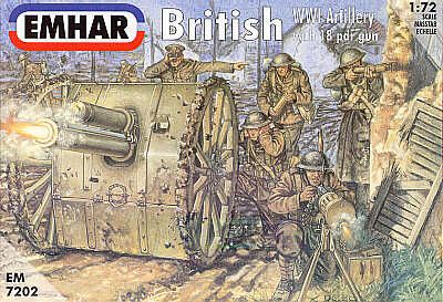 Emhar 1/72 WWI British Artillery with 18pdr Gun # 7202