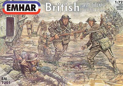 Emhar 1/72 WWI British Infantry with Tank Crew # 7201