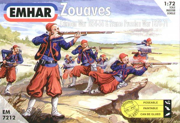 Emhar 1/72 Zouaves Crimean and Franco Prussian Wars # 7212