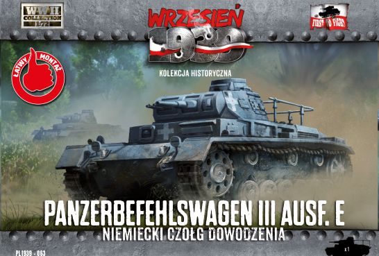 First to Fight 1/72 Panzerbefehlswagen III Ausf.E Command Tank # 063