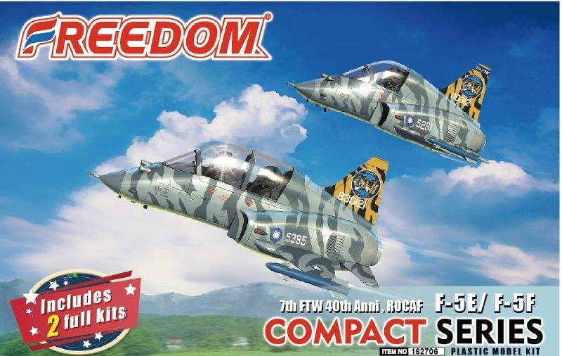 Freedom Models - ROCAF 7th FTW 40th Anniversary Northrop F-5E/F-5F (Compact Series) # 162706