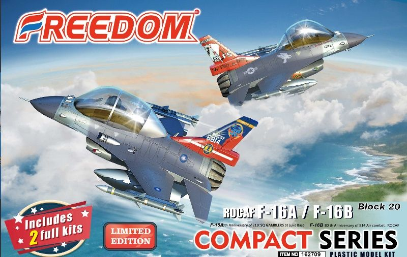 Freedom Models - ROCAF F-16A/F-16B Block 20 Special Edition (Compact Series) # 162709
