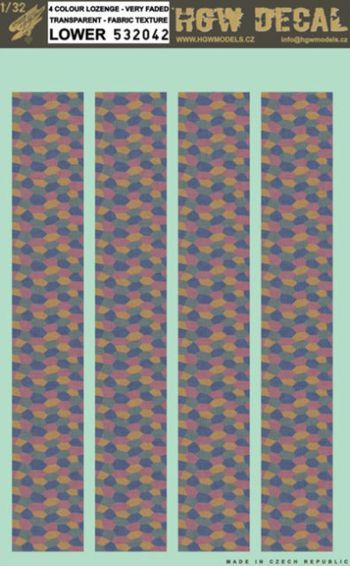 HGW 1/32 4 Colour Lozenge - Transparent - Fabric Texture - Lower # 532042