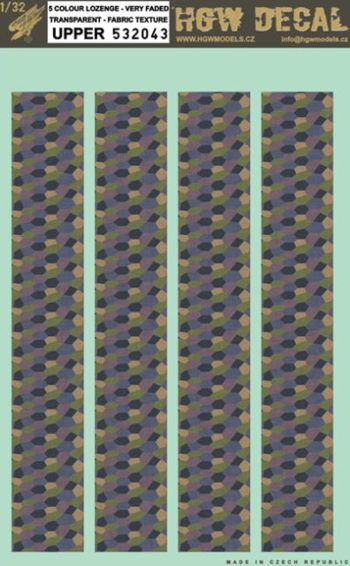 HGW 1/32 5 Colour Lozenge - Transparent - Fabric Texture - Upper # 532043