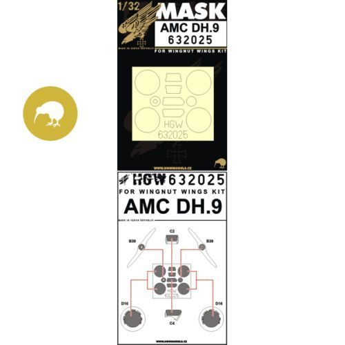 HGW 1/32 AirCo/de Havilland DH.9 - Paint Masks # 632025