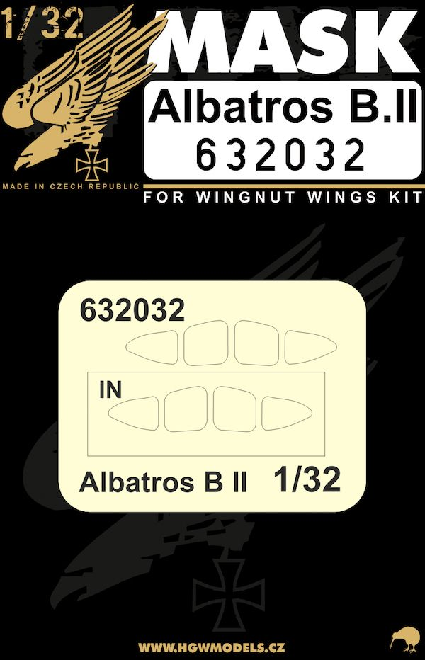 HGW 1/32 Albatros B.II Windscreen Paint Mask (Inside And Outside) # 632032