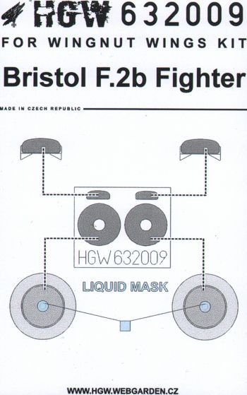 HGW 1/32 Bristol F.2B Fighter Paint Mask # 632009