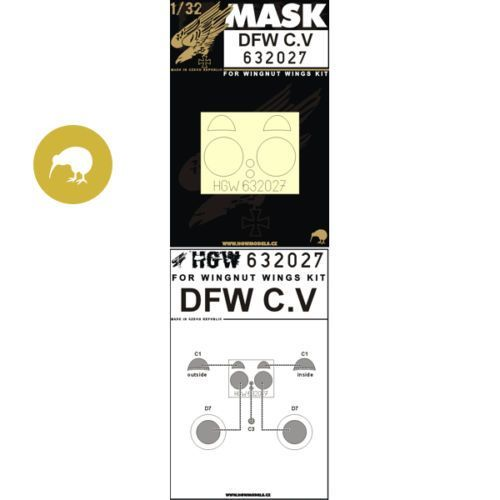 HGW 1/32 DFW C.V - Paint Mask # 632027