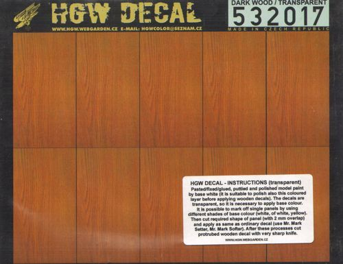 HGW 1/32 Dark Wood Transparent A5 # 532017