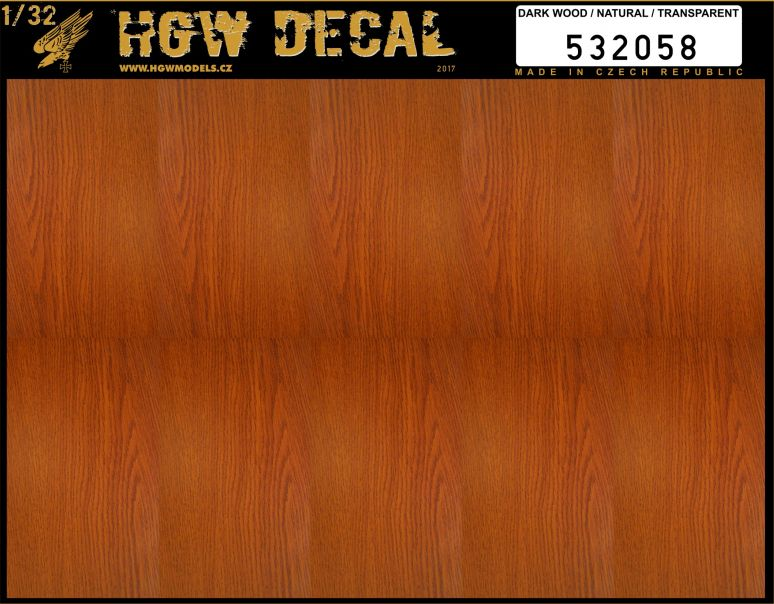 HGW 1/32 Dark Wood - Transparent - No Grid A5 # 532058