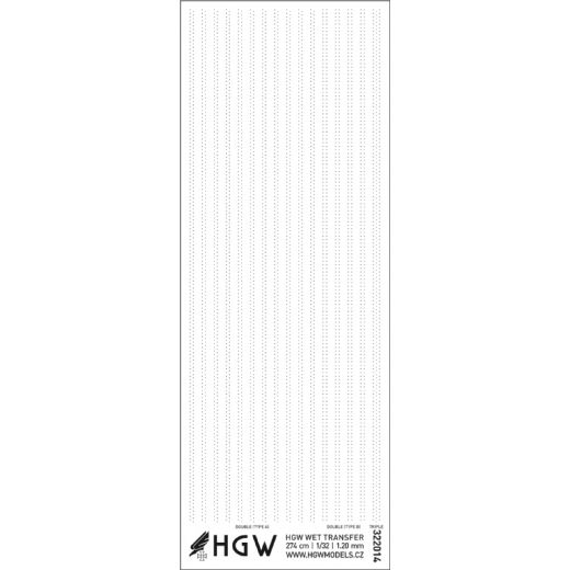 HGW 1/32 Double & Triple Lines - Rivets 1.20mm 274cm # 322014